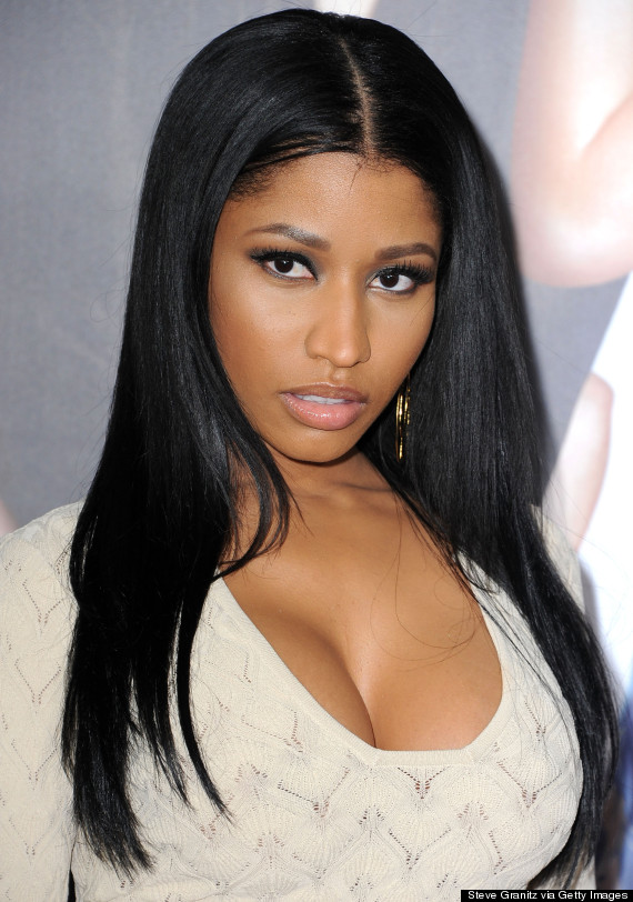 """WESTWOOD, CA - APRIL 21:  Nicki Minaj arrives at the """"The Other Woman"""" - Los Angeles Premiere at Regency Village Theatre on April 21, 2014 in Westwood, California.  (Photo by Steve Granitz/WireImage)"""